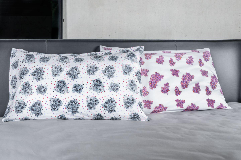 Federe cuscino letto con fantasia Fluorish