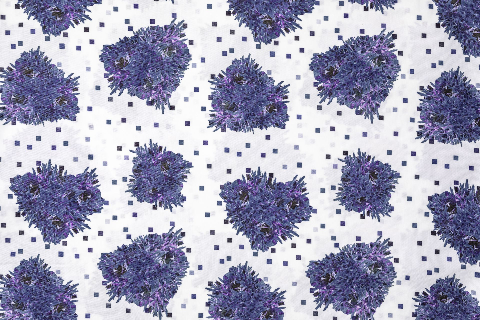 Fantasia federa cuscino Fluorish Blu