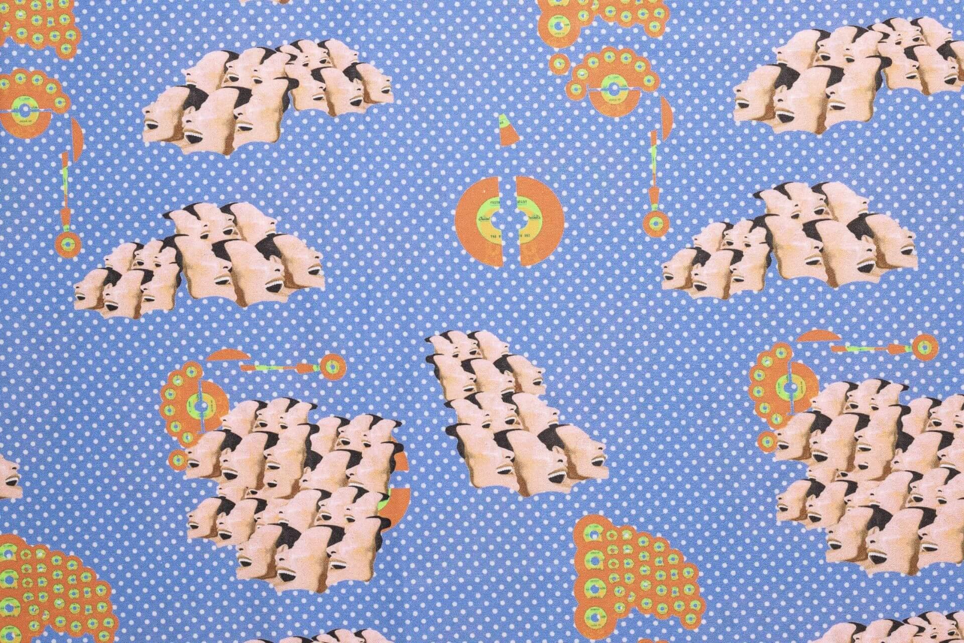Fantasia federa cuscino letto anni 70 Fabe Azzurro