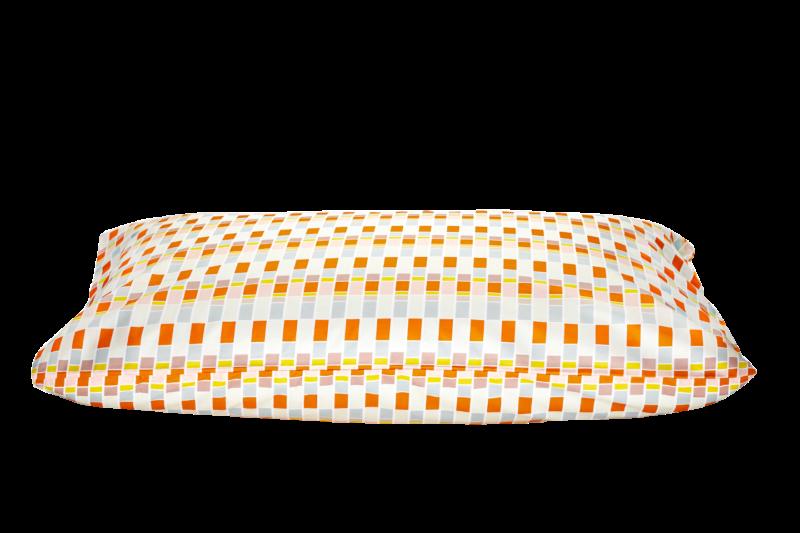 """cuscino letto con federa fantasia anni 70 """"Future retro Glance at the past"""""""