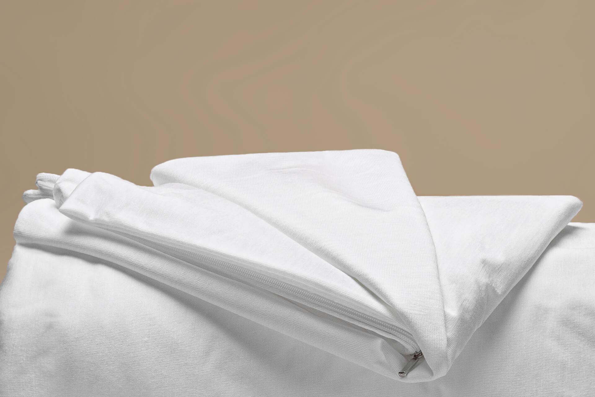 coprimaterasso impermeabile tencel a cappuccio dettaglio