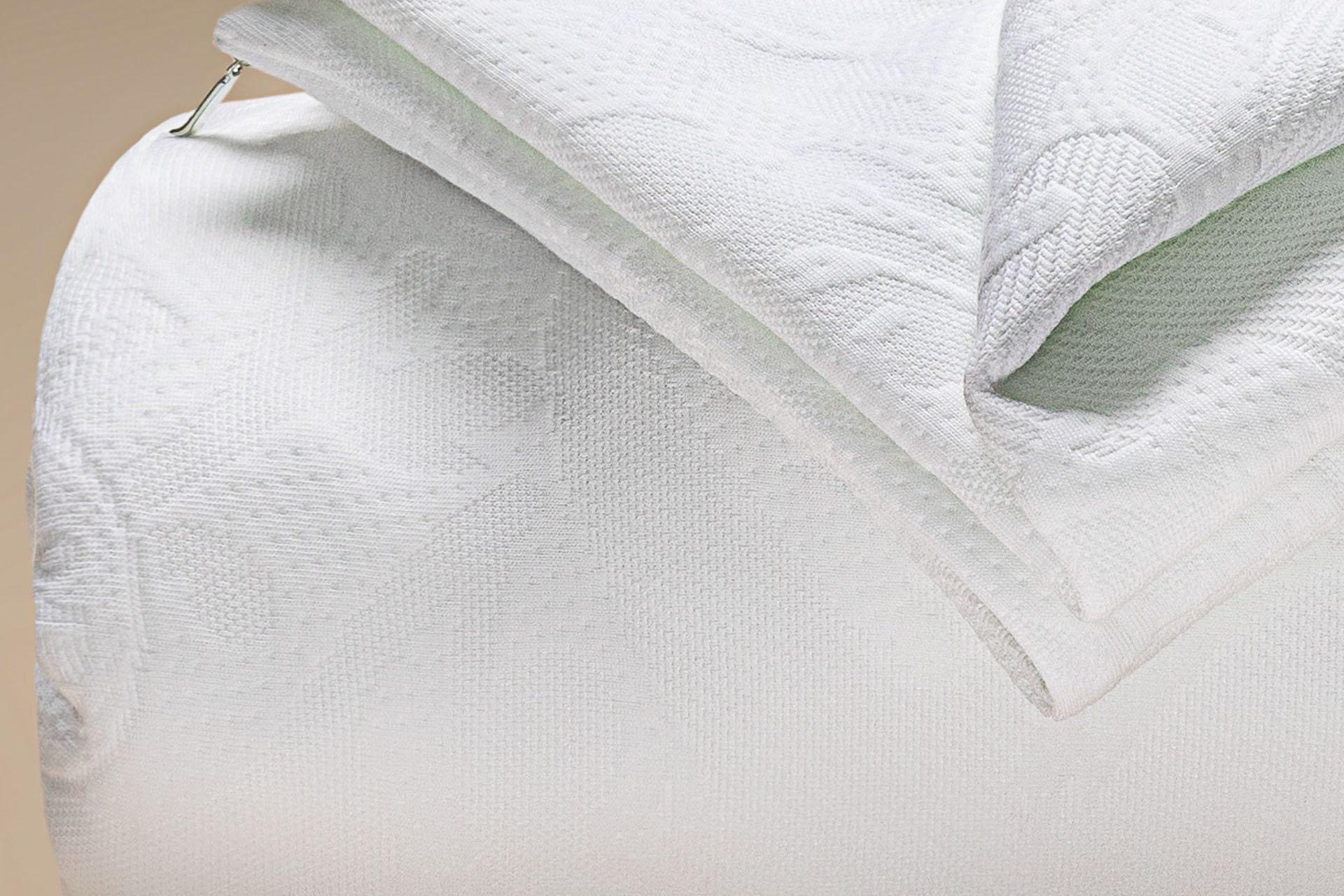 copricuscino coprimaterasso a maglia antiacaro greenfirst dettaglio