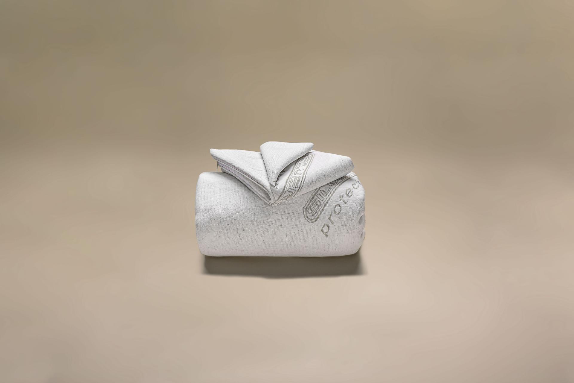 copricuscino a maglia semi imbottito igienico silverplus a cappuccio