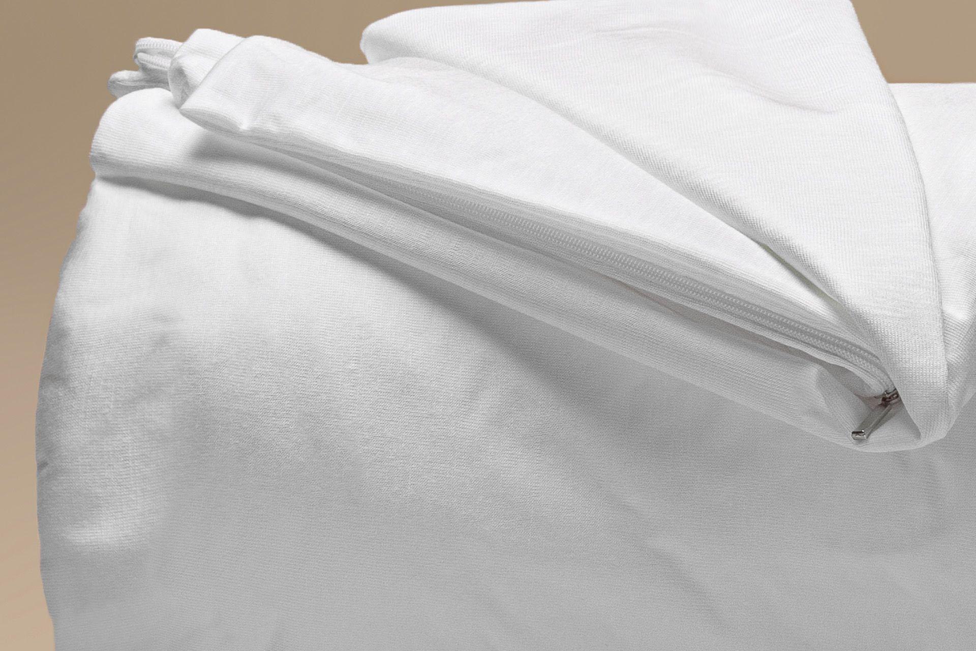 copricuscino coprimaterasso impermeabile tencel a cappuccio dettaglio