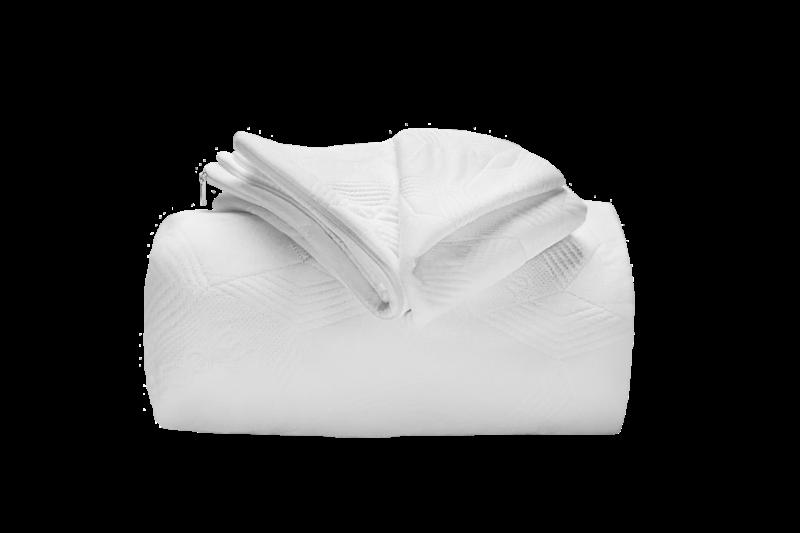 copricuscino coprimaterasso maglia semi imbottito bioceramic a cappuccio